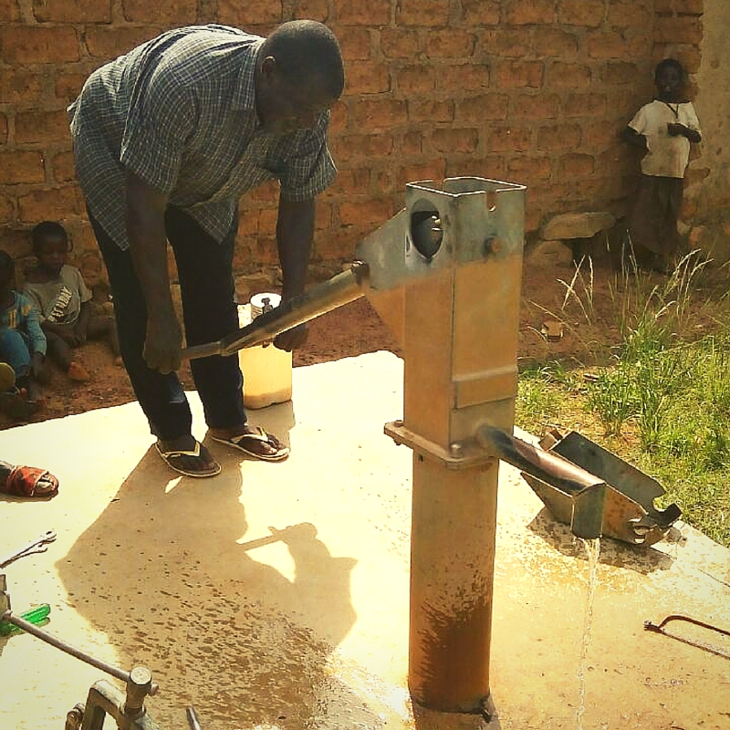 TASTE project Update Repaired Borehole Pumping Clean Water